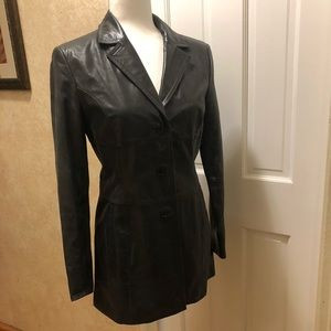 Express Leather Blazer ~ Vintage Vibe